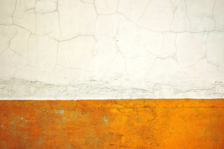 white and orange wall